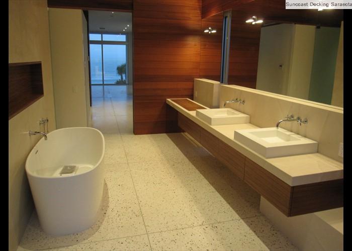 polished shell interior bathroom