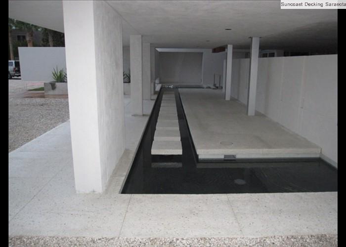 shell step at reflecting pool